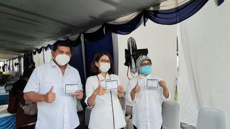 Foto: Jajaran Kanwil BPN Provinsi Banten divaksinasi Covid-19. (dok. Humas BPN Banten)