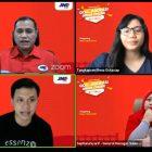 Foto: Meeting Zoom JNE Tangerang. (dok. JNE Tangerang)