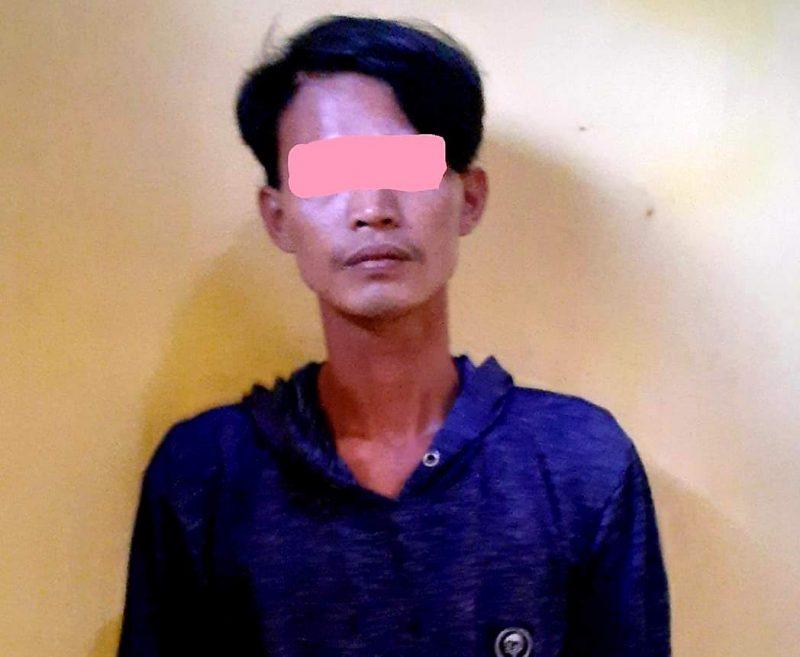 Pelaku berinisial MB (24) perkosa nenek 60 tahun yang tunanetra. (dok Humas Polresta Tangerang)