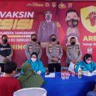 Kegiatan gerai vaksin presisi di Polsek Balaraja, Kecamatan Balaraja, Kabupaten Tangerang.   (dok. infotangerang.co.id)