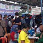 Serbuan vaksinasi massal, kolaborasi tiga pilar Kecamatan Rajeg, Kabupaten Tangerang. (dok. infotangerang.co.id)