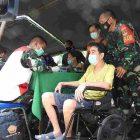 Pelaksanaan vaksinasi bagi penderita kormobid yang digelar Kodim 0510 Tigaraksa, Kabupaten Tangerang. (dok. infotangerang.co.id)